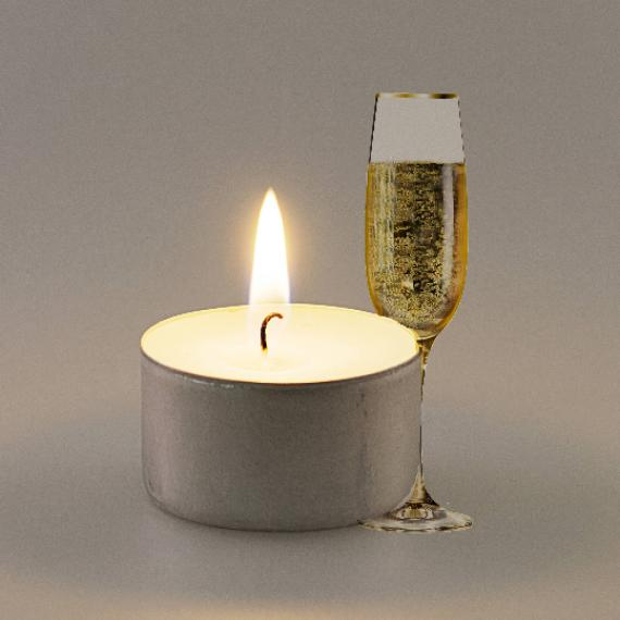 Champagne and Strawberries Scented Tealights