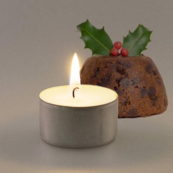 Christmas Pudding Scented Tealights