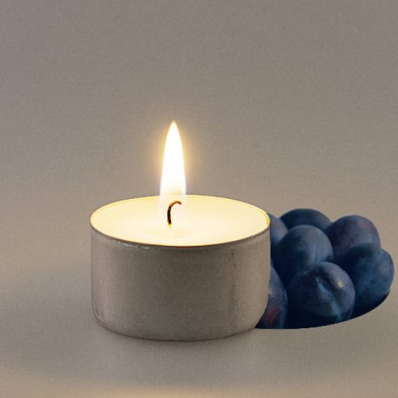 Picture of Damson Plum Scented Tealights