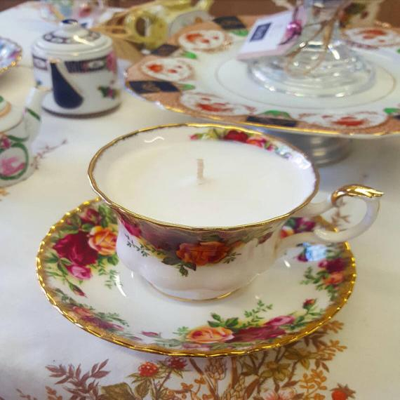 Royal Albert Teacup and Saucer Scented Vegan Candle