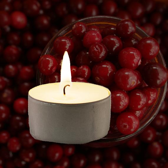Cranberry Wreath Scented Tealights