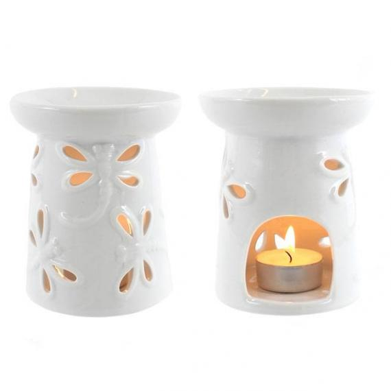 Dragonfly Wax Burner with Tealights and Scented Wax Melt