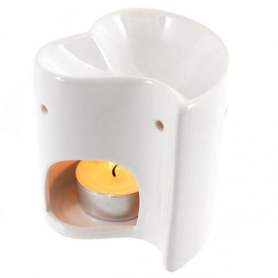 Whiteheart Wax Burner with Tealights and Scented Wax Melt