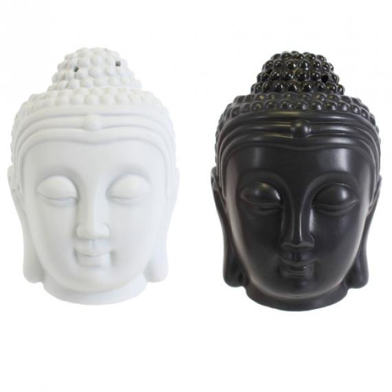 Buddhist Head Wax Burner with Tealights and Scented Wax Melt