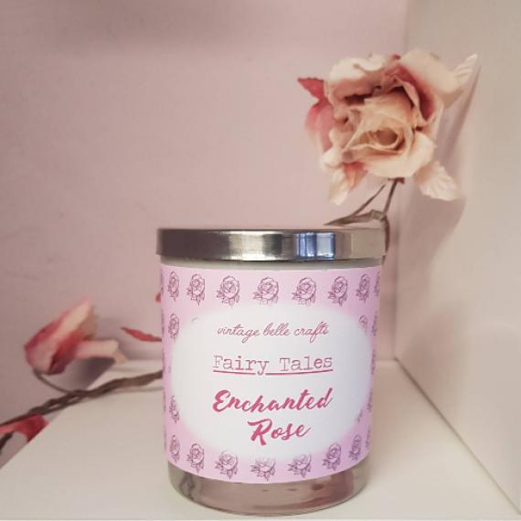 Enchanted Rose Scented Fairytale Candle