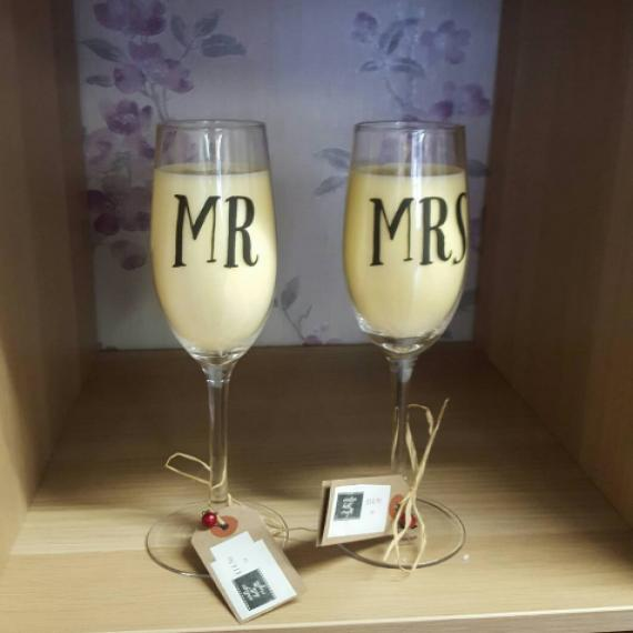 Couples Glass Candles