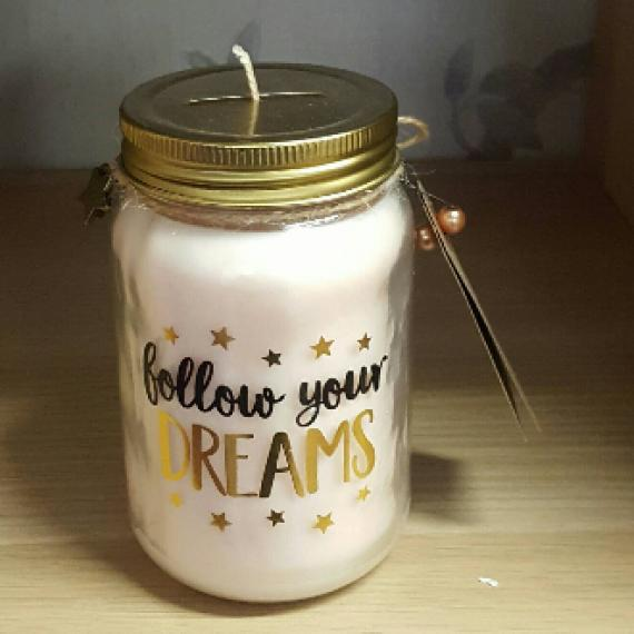Follow Your Dreams Money Jar Candle