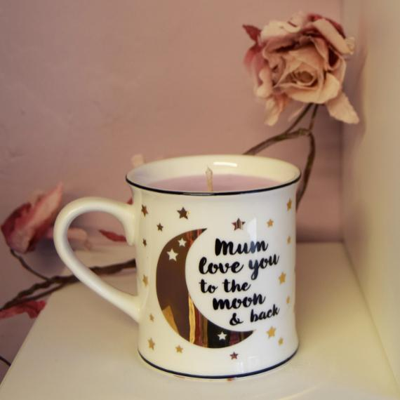 A Mum Love You To The Moon and Back Mug Candle