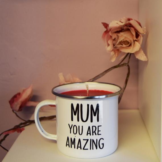 A Mum You Are Amazing Mug Candle