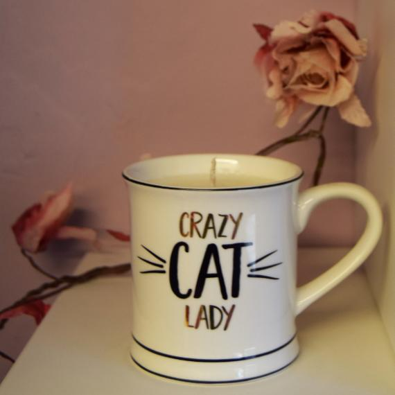 A Crazy Cat Lady Mug Candle