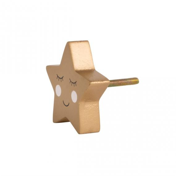 Picture of Smiling Star Face Drawer Knob