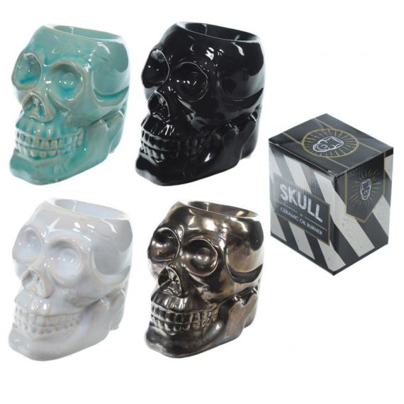 Spooky Skull Wax Burner with Tealights and Scented Wax Melt